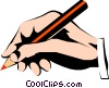 Vector Clip Art image  of a Hands writing
