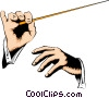 Hands conducting Vector Clipart illustration