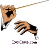 Vector Clip Art image  of a Hands conducting