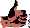 Vector Clipart graphic  of a Thumbs up