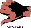 Vector Clip Art image  of a Thumbs down