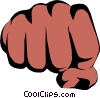 Vector Clip Art image  of a Fists