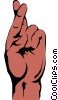 Vector Clip Art graphic  of a Crossed fingers