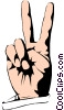 Peace sign Vector Clipart picture