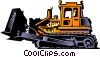 Vector Clip Art picture  of a Bulldozer