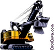 Steam shovel Vector Clip Art graphic
