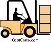 Vector Clipart image  of a Forklifts