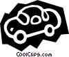 Woodcut car Vector Clipart illustration