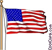Vector Clip Art graphic  of a U.S.A. flag