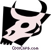 Cow skull Vector Clipart illustration