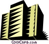 Vector Clip Art picture  of an Apartment buildings