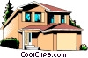 Vector Clipart illustration  of a Family home