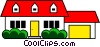 Vector Clip Art image  of a Family home