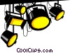 Vector Clip Art image  of a Stage lights