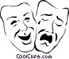 Theatre masks Vector Clipart illustration