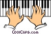 Piano keyboards Vector Clipart graphic