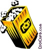 Bag of Popcorn Vector Clip Art picture
