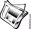 Vector Clipart picture  of a Newspaper
