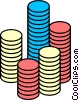 Vector Clipart image  of a Poker chips