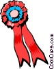 First place ribbon Vector Clipart illustration