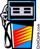 Vector Clip Art picture  of a Gas pump