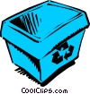 Vector Clip Art graphic  of a Blue box