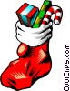 Christmas stocking Vector Clipart image