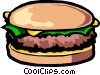 Cheese Hamburger Vector Clipart illustration