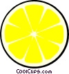 Vector Clipart image  of a Lemon slice