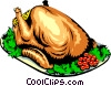 Vector Clip Art image  of a Turkey dinner