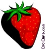 Vector Clipart graphic  of a Large Strawberry