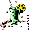 Vector Clipart image  of a Cool drink