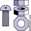 Vector Clipart graphic  of a Nuts & bolts