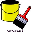 Vector Clipart picture  of a paint can