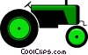 Vector Clip Art image  of a Farm tractor
