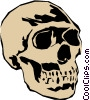 Skull Vector Clip Art graphic
