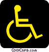 Vector Clipart graphic  of a Handicapped symbol