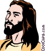 Vector Clipart graphic  of a Jesus Christ