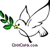 Vector Clip Art graphic  of a Dove of peace