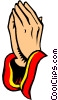Vector Clip Art picture  of a Praying hands