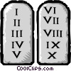 Vector Clipart image  of a Ten Commandments