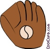 Vector Clipart graphic  of a Baseball glove