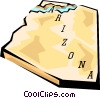 Vector Clip Art graphic  of an Arizona state map