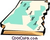 Vector Clipart graphic  of an Arkansas state map