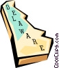 Vector Clip Art graphic  of a Delaware state map