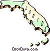 Vector Clipart graphic  of a Florida state map