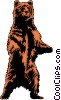 Vector Clip Art graphic  of a Grizzly bear