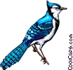 Vector Clip Art image  of a Bluebird