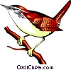 Vector Clipart graphic  of a Carolina wren