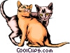 Baby kittens Vector Clipart illustration
